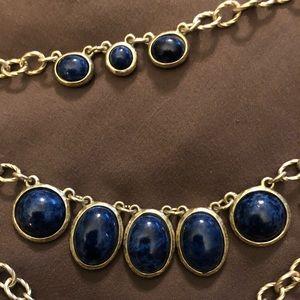 Chico's Blue Stone tier necklace Sonia Multi